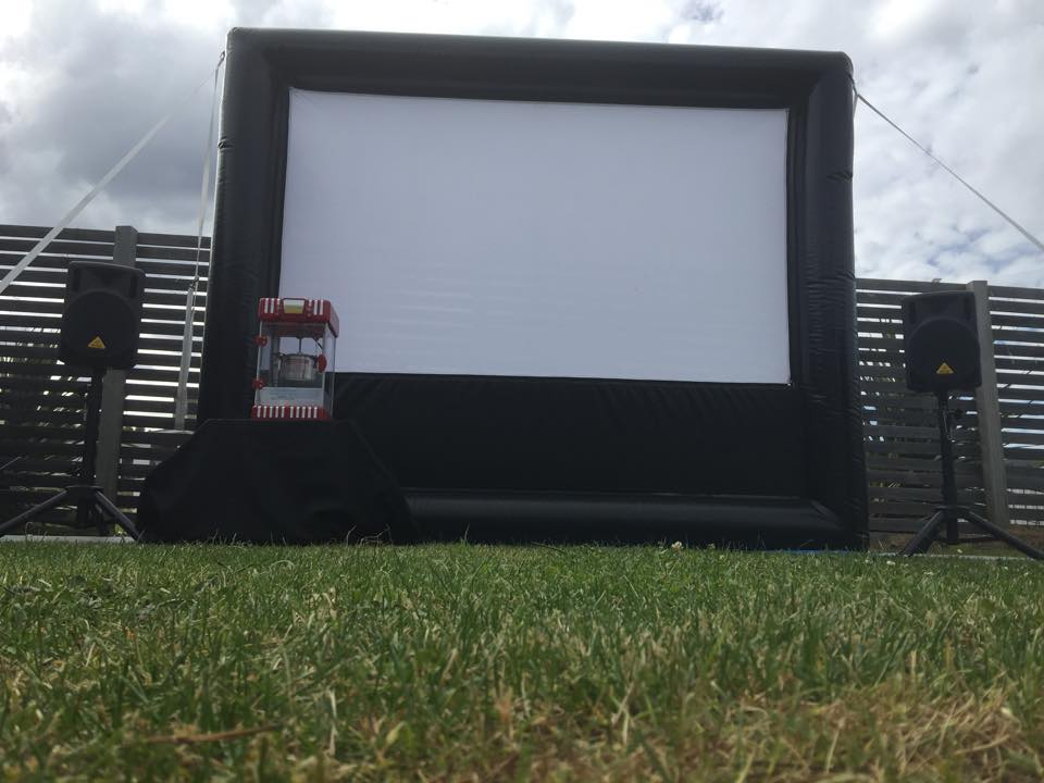 Tasmania Open Air Cinema. Hire our large inflatable screens.