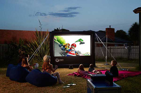 Play games on the big screen. Hire a massive screen in Tasmania.